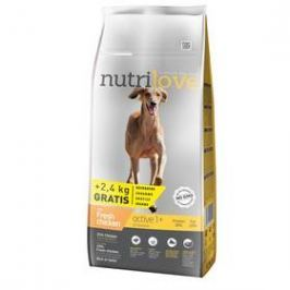 Nutrilove Dog dry Active fresh chicken 12kg + 2,4 kg ZDARMA