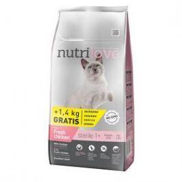 Nutrilove Cat dry Sterile fresh chicken 7kg + 1,4 kg ZDARMA