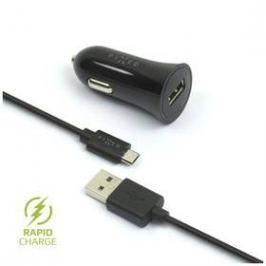 FIXED 1x USB, 2,4A + micro USB kabel (FIXCC-UM-BK) černý