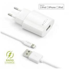 FIXED 1x USB, 2,4A + Lightning kabel (FIXC-UL-WH) bílá