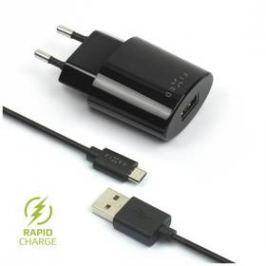 FIXED 1x USB, 2,4A + micro USB kabel (FIXC-UM-BK) černá