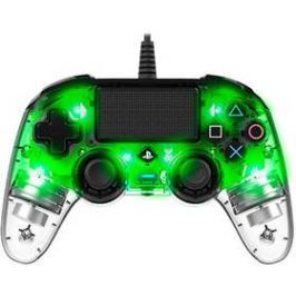 Nacon Wired Compact Controller pro PS4 (ps4hwnaconwicccgreen) zelený/průhledný