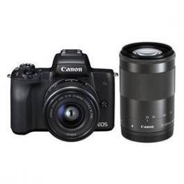 Canon EOS M50 + EF-M15-45 + EF-M55-200 (2680C022) černý