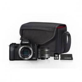 Canon EOS M50 + EF-M15-45 + SB130 + 16GB karta (2680C064) černý
