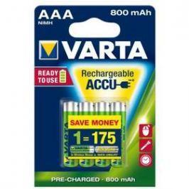 Varta Rechargeable Accu, AAA, 800 mAh, 4 ks