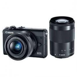 Canon EOS M100 + EF-M 15-45mm IS STM + EF-M 55-200mm IS STM černý
