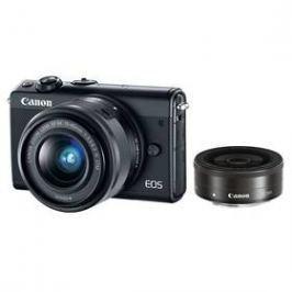 Canon EOS M100 + EF-M 15-45mm IS STM + EF-M 22mm STM černý
