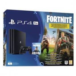 Sony PlayStation 4 PRO 1TB + hra FORTNITE voucher (PS719723714) černý