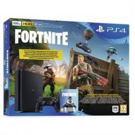 Sony PlayStation 4 SLIM 500GB + hra FORTNITE voucher (PS719722816) černý