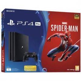 Sony PlayStation 4 Pro 1TB + hra SPIDERMAN (PS719406570) černý