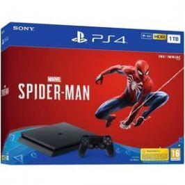 Sony PlayStation 4 SLIM 1TB + hra SPIDERMAN (PS719733218) černý