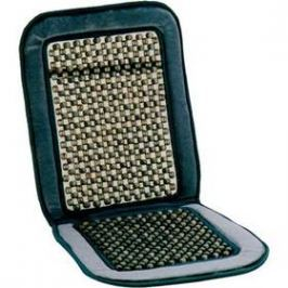 Potah sedadla Carpoint kuličkový - šedý semiš / dřevo s výstuhou