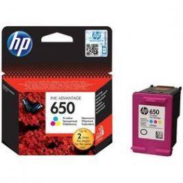 HP No. 650, 200 stran - originální (CZ102AE#BHK) červená/modrá/žlutá