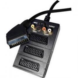 EMOS SCART / 3x SCART + 3x Cinch + S-Video, 0,5m (SB2300) černý