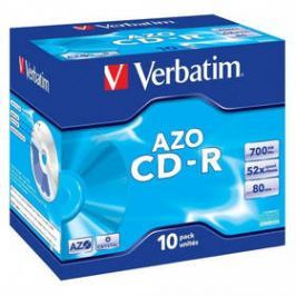 Verbatim CD-R 700MB/80min, 52x, jewel box, 10ks (43327)