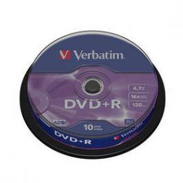 Verbatim DVD+R 4,7GB, 16x, 10cake (43498)