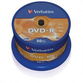 Verbatim DVD-R 4,7GB, 16x, 50cake (43548) Záznamová média