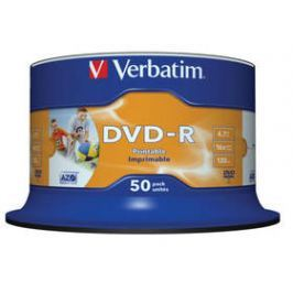 Verbatim DVD-R 4.7GB, 16x, printable, 50cake (43533)