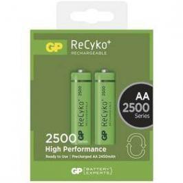 GP ReCyko+ AA, HR6, 2500mAh, Ni-MH, krabička 2ks (1032212110) zelená