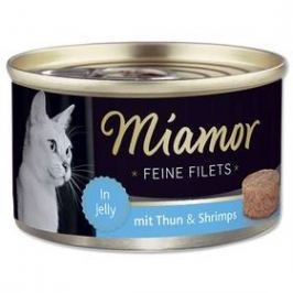 Miamor Filet tuňák + krevety v želé 100g Konzervy, paštiky a kapsičky