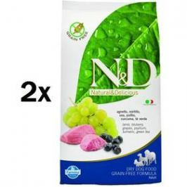 N&D Grain Free DOG Adult Lamb & Blueberry 2 x 12 kg
