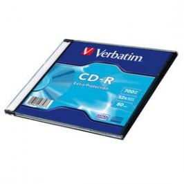 Verbatim CD-R 700MB/80min, 52x, Extra Protection, slim, 200ks (43347)