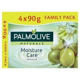 Palmolive Naturals Moisture care tuhé mýdlo s výtažkem z oliv  4 x 90g