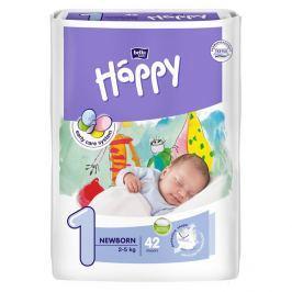Bella Baby Happy 1 Newborn jednorázové plenky 2-5kg 42 ks