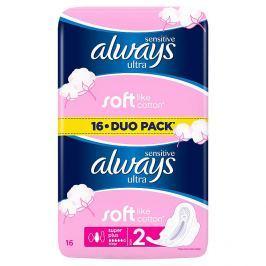 Always Sensitive Ultra super plus hygienické vložky 16 ks/bal.