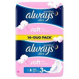 Always Sensitive Ultra night hygienické vložky 14 ks/bal.