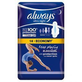 Always Ultra Night hygienické vložky 14 ks/bal.