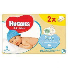 Huggies Pure dětské ubrousky Duo 2 x 56 ks