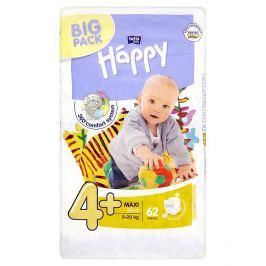 Bella Baby Happy 4+ Maxi plus jednorázové plenky 9-20kg 62 ks