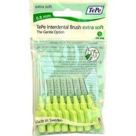 TEPE Mezizubní kartáčky 0,8 mm Extra Soft - zelený  8 ks