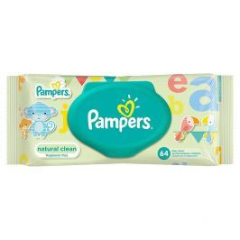 Pampers Ubrousky Natural Clean 64 ks