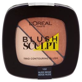 L'Oréal Paris konturovací tvářenka Blush Sculpt Trio 102 Nude Beige