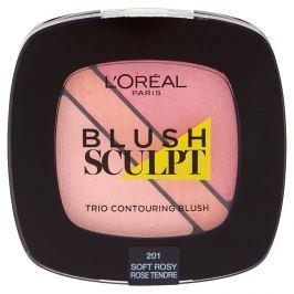 L'Oréal Paris konturovací tvářenka Blush Sculpt Trio 201 Soft Rosy
