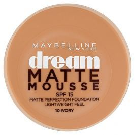 Maybelline NY Dream Matte Mousse, make-up v lehké pěně 10 Ivory