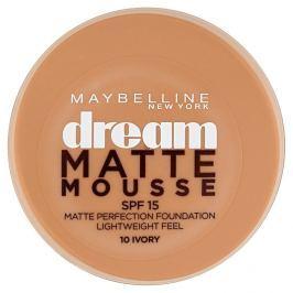 Maybelline NY Dream Matte Mousse, make-up v lehké pěně 10 Ivory Make-up