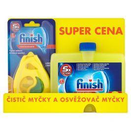 Finish Citrón čistič myčky  + Deo Citrón osvěžovač 250 ml