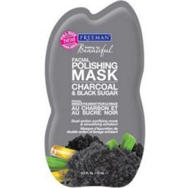 Freeman peelingová maska s uhlím a cukrem  15 ml
