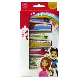 Edel+White 7 ovocných zubních past pro děti  7 x 9,3 ml