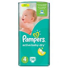 Pampers Active Baby-Dry pleny 4 Maxi, 8-14 kg 58 ks