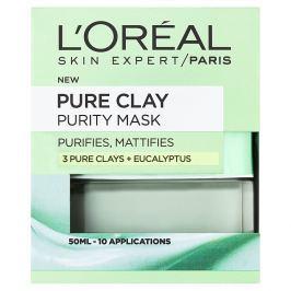 L'Oréal Paris Pure Clay čisticí zmatňující maska 50 ml