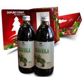 Graviola - 100% šťáva z gravioly 500 ml + 500 ml