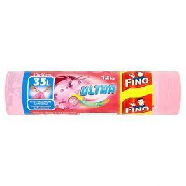 Fino Ultra zatahovací odpadkové pytle, 35 l růžové, 12 ks