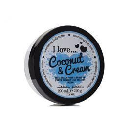 I Love Coconut & Cream vyživující tělové máslo s vůní kokosu a jemného krému 200 ml Tělové krémy a mléka
