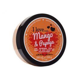 I Love Mango & Papaya vyživující tělové máslo s vůní manga a papáji 200 ml Tělové krémy a mléka