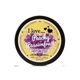 I Love Peachy Passionfruit vyživující tělové máslo s vůní broskve a tropického ovoce  200 ml