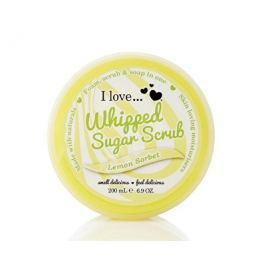 I Love Lemon Sorbet Whipped Sugar tělový peeling z našlehaného cukru s vůní citronového sorbetu  200 ml